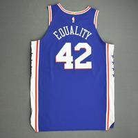 Al Horford - Philadelphia 76ers - Game-Worn Icon Edition Jersey - 2019-20 NBA Season Restart with Social Justice Message
