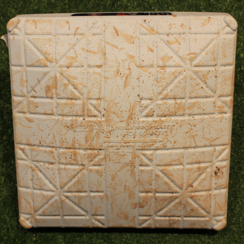 Photo of Game-Used Base: 3rd Base, Innings 6-9 (CLE @ KC 7/4/19)