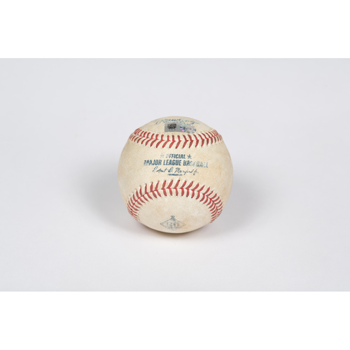 Photo of Game-Used Baseball: Pitcher: Dylan Bundy, Batter: Mookie Betts - Strikeout - Top 1 - 5/08/21 vs. LAD