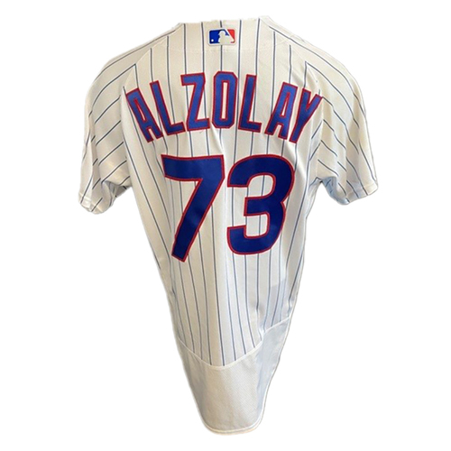 Photo of Adbert Alzolay Game-Used Jersey -- Padres vs. Cubs -- 6/2/21 -- Features ALS Patch -- Size 44