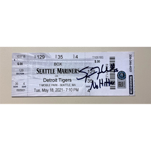"""Photo of Spencer Turnbull Autographed No Hitter Game Ticket with """"No Hitter"""" Inscription (MLB AUTHENTICATED)"""