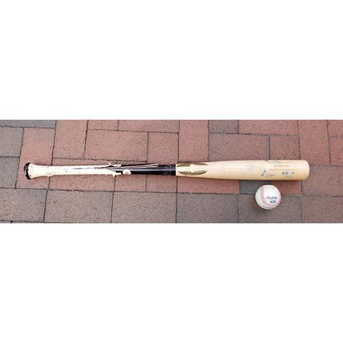Photo of DJ Stewart: 2021 Game-Used Broken Bat and Baseball Combo