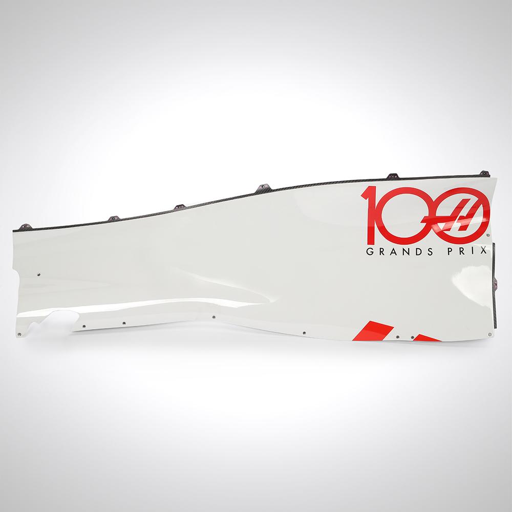 Mick Schumacher 2020 Test Used '100 GP' Right-hand Quarter Panel Upper