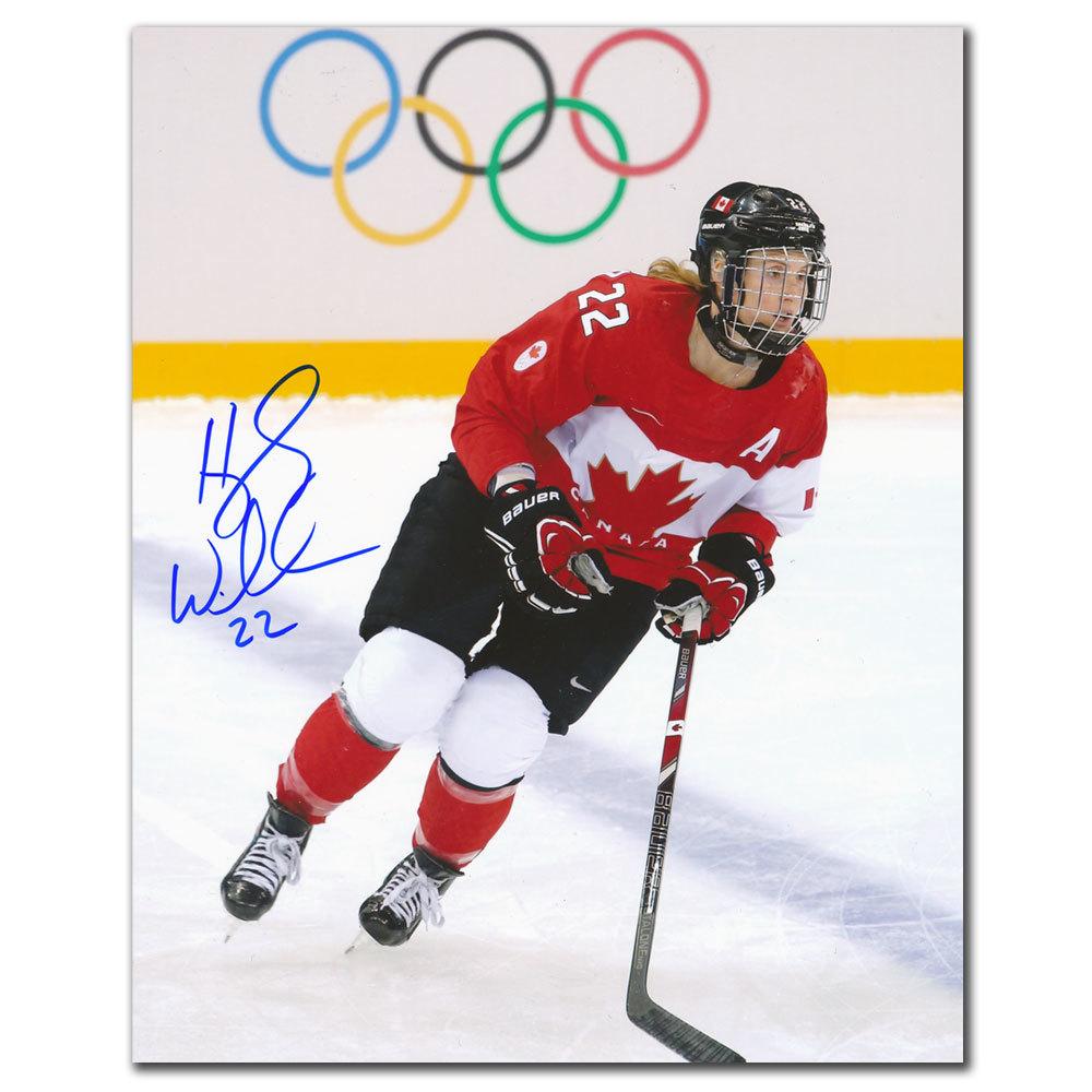Hayley Wickenheiser Team Canada 2014 OLYMPICS Autographed 8x10