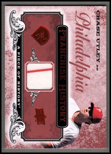 Photo of 2008 UD A Piece of History Franchise History Jersey Red #FH42 Chase Utley