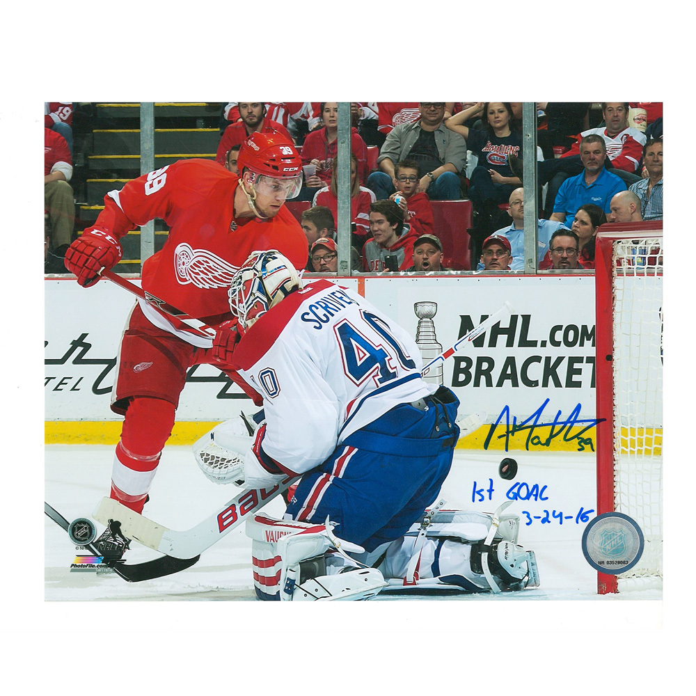 ANTHONY MANTHA Signed Detroit Red Wings 8 X 10 Photo with