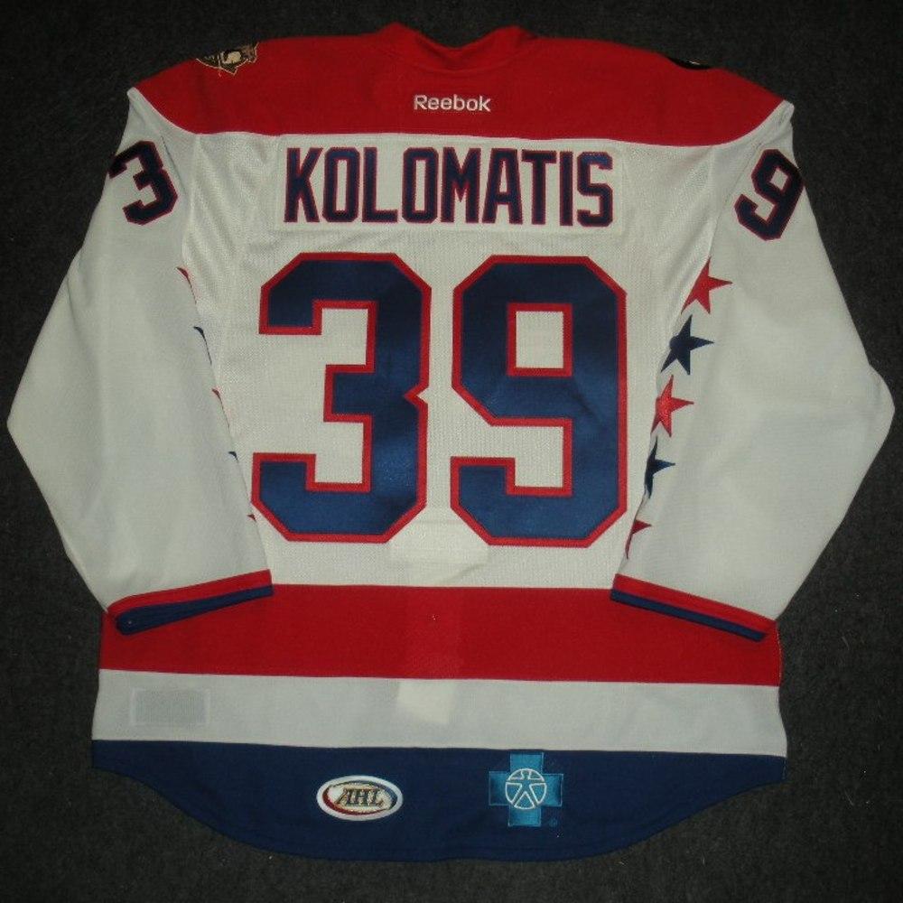 583d98623 David Kolomatis - Hershey Bears - Washington AHL Showcase Game-Worn Jersey