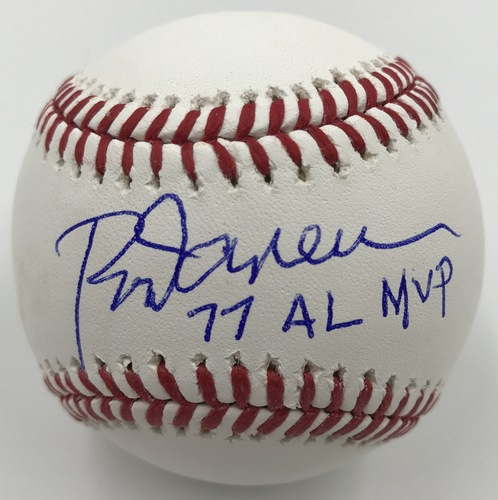 "Photo of Rod Carew ""77 AL MVP"" Autographed Baseball"