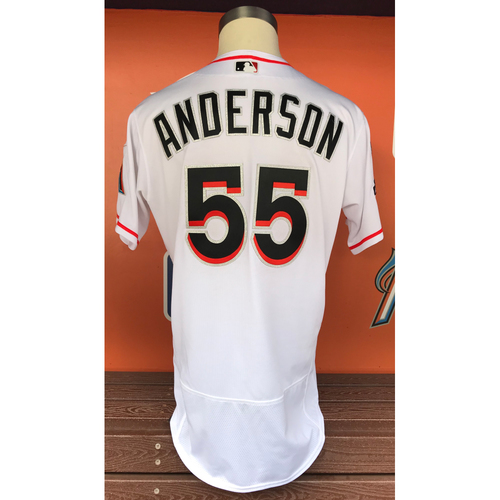 Photo of Game-Used Jersey: Brian Anderson 2017 Final Home Game