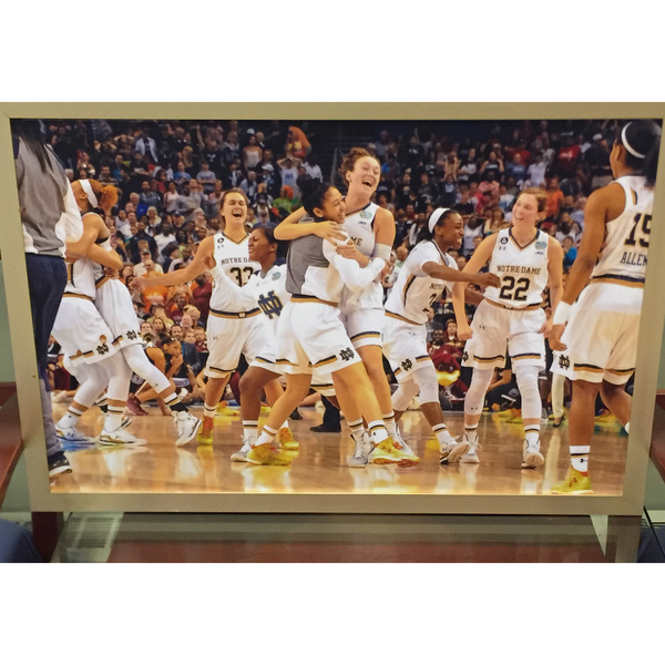 Photo of Framed Photo of 2014-2015 Notre Dame Women's Basketball Team Celebration