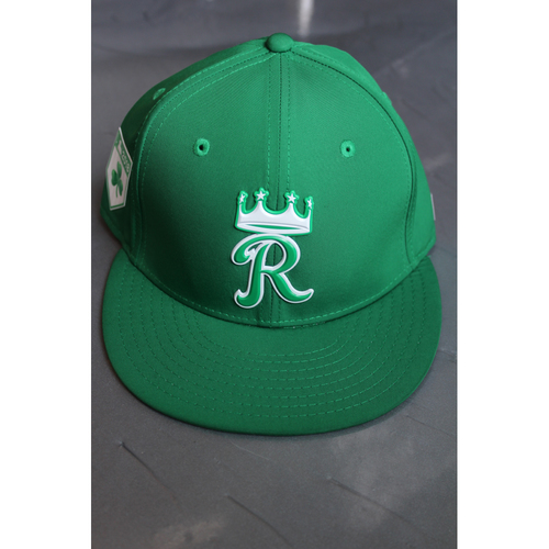 Photo of Game-Used St. Patrick's Day Cap: Burch Smith (Size 7 1/8 - TEX at KC - 9/29/17)
