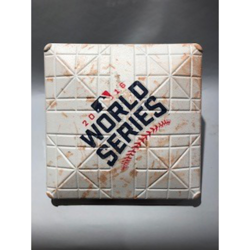 Photo of 2016 World Series Base - 2nd Base used in innings 1-2 of Game 6 - 11/01/16