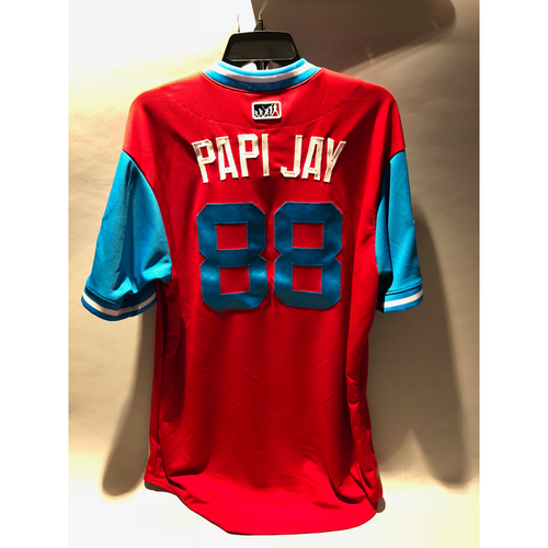 "Photo of Philadelphia Phillies 2018 Little League Classic Game-Used Jersey - Pedro ""Papi Jay"" Guerrero - 8/19/2018"
