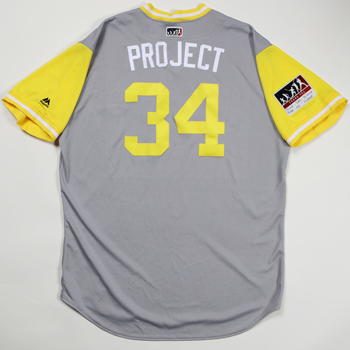 "Photo of Trevor ""Project"" Williams Pittsburgh Pirates Game-Used Jersey 2018 Players' Weekend Jersey"
