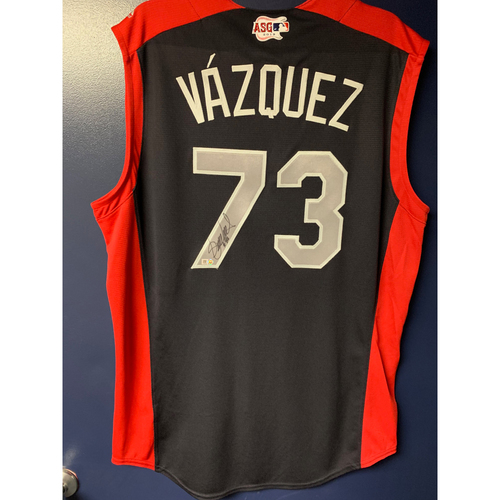 Photo of Felipe Vazquez 2019 Major League Baseball Workout Day Autographed Jersey