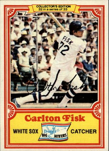 Photo of 1981 Drake's #32 Carlton Fisk