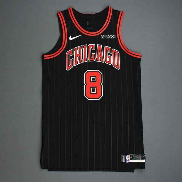 Image of Zach LaVine - Chicago Bulls - Game-Worn Statement Edition Jersey - Scored Team-High 28 Points - 2019-20 Season