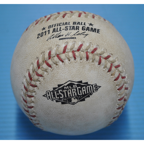 Photo of Game-Used Baseball - 2011 All-Star Game - Pitcher - David Robertson, Batter - Brian McCann - Flyout to Right Field - Bottom 2