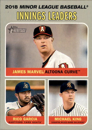 Photo of 2019 Topps Heritage Minors #199 Rico Garcia/Michael King/James Marvel LL