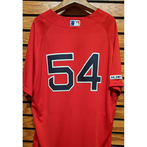 Colten Brewer #54 Game Used Red Home Alternate Jersey