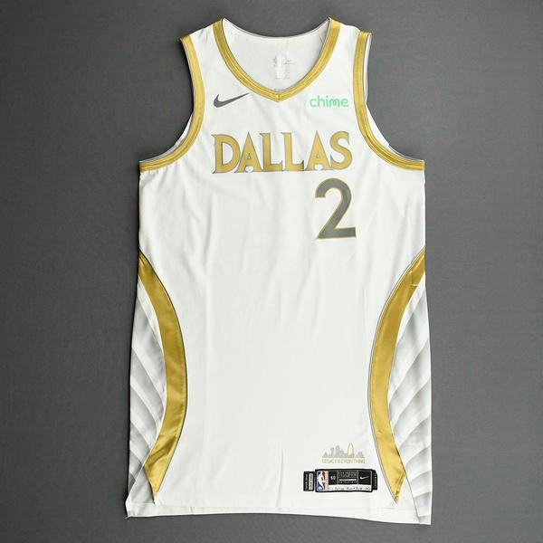 Image of Tyler Bey - Dallas Mavericks - Game-Worn - City Edition Jersey - Dressed, Did Not Play (DNP) - 2020-21 NBA Season