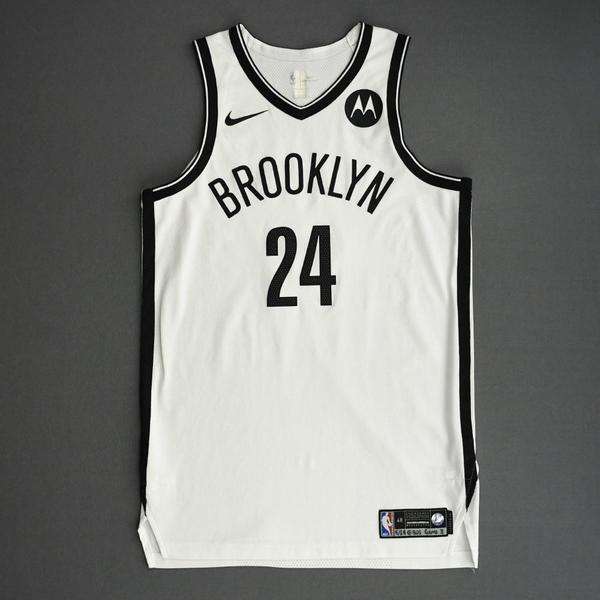 Image of Alize Johnson - Brooklyn Nets - Game-Worn Association Edition Jersey - Dressed, Did Not Play (DNP) - 2021 NBA Playoffs