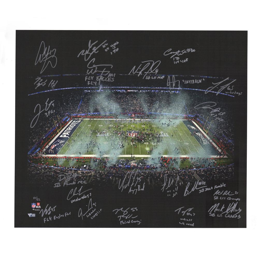 Philadelphia Eagles Super Bowl LII 20'' x 24'' Team-Signed Canvas - Limited Edition #52/52