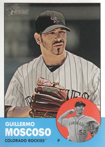 Photo of 2012 Topps Heritage #339 Guillermo Moscoso RC
