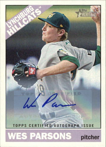 Photo of 2015 Topps Heritage Minors Real One Autographs #ROA29 Wes Parsons