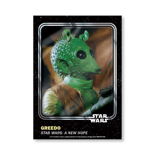 Greedo 2016 Star Wars Card Trader Base Poster - # to 99