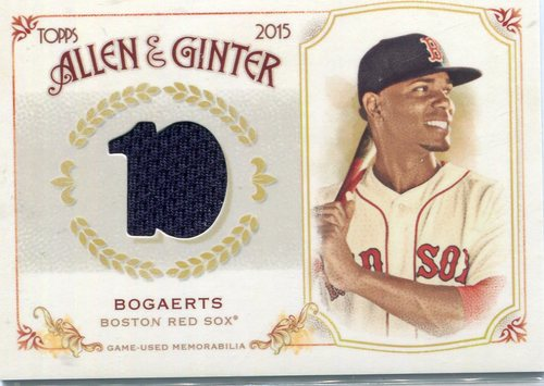 Photo of 2015 Topps Allen and Ginter Relics Xander Bogaerts