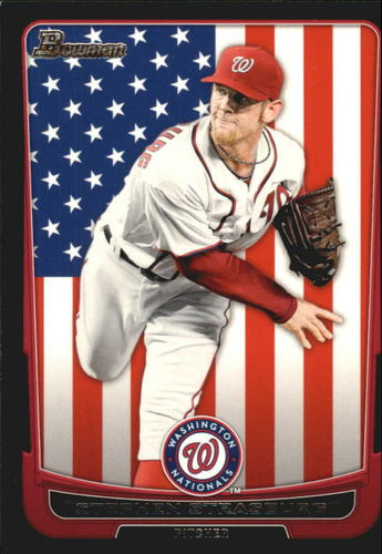 Photo of 2012 Bowman International #169 Stephen Strasburg
