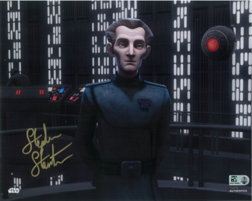 Stephen Stanton as Tarkin 8x10 Autographed in Gold Ink Photo