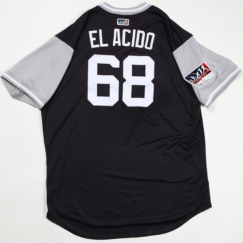"Photo of Dellin ""El Acido"" Betances  New York Yankees Game-Used Jersey 2018 Players' Weekend Jersey"