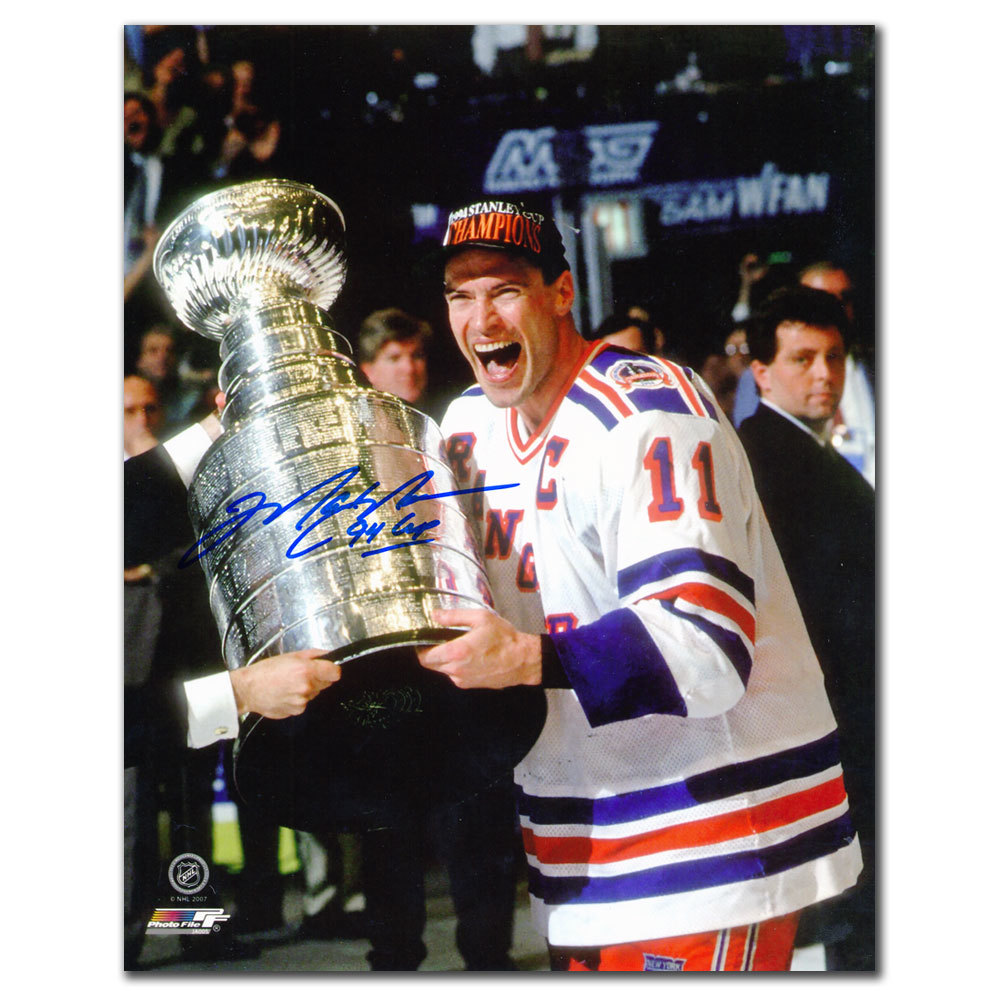 Mark Messier New York Rangers 1994 STANLEY CUP Autographed 8x10