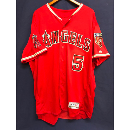 Photo of Albert Pujols Game-Used 2018 Spring Training Jersey from the Freeway Series