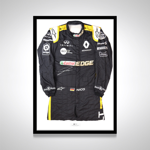 Photo of Nico Hulkenberg 2018 Signed Race-worn Race Suit - Renault F1 Team