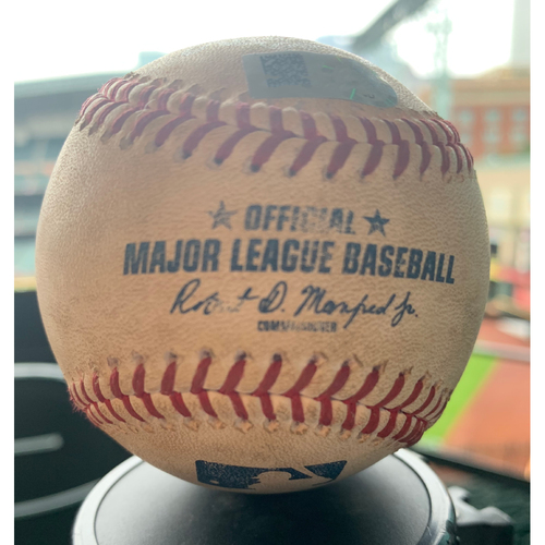 Photo of Houston Astros Game-Used Baseball: Pitcher: Brad Peacock, Batters: Jose Abreu (Double), Yoan Moncada (Strikeout) - Top 4 - 5/20/19 vs. CWS