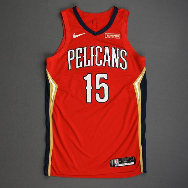 Image of Frank Jackson - New Orleans Pelicans - Christmas Day' 19 - Game-Worn Statement Edition Jersey
