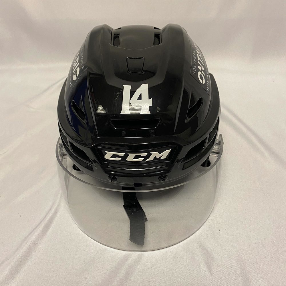2020 AHL All-Star Classic Helmet Worn and Signed by #14 Joey Anderson