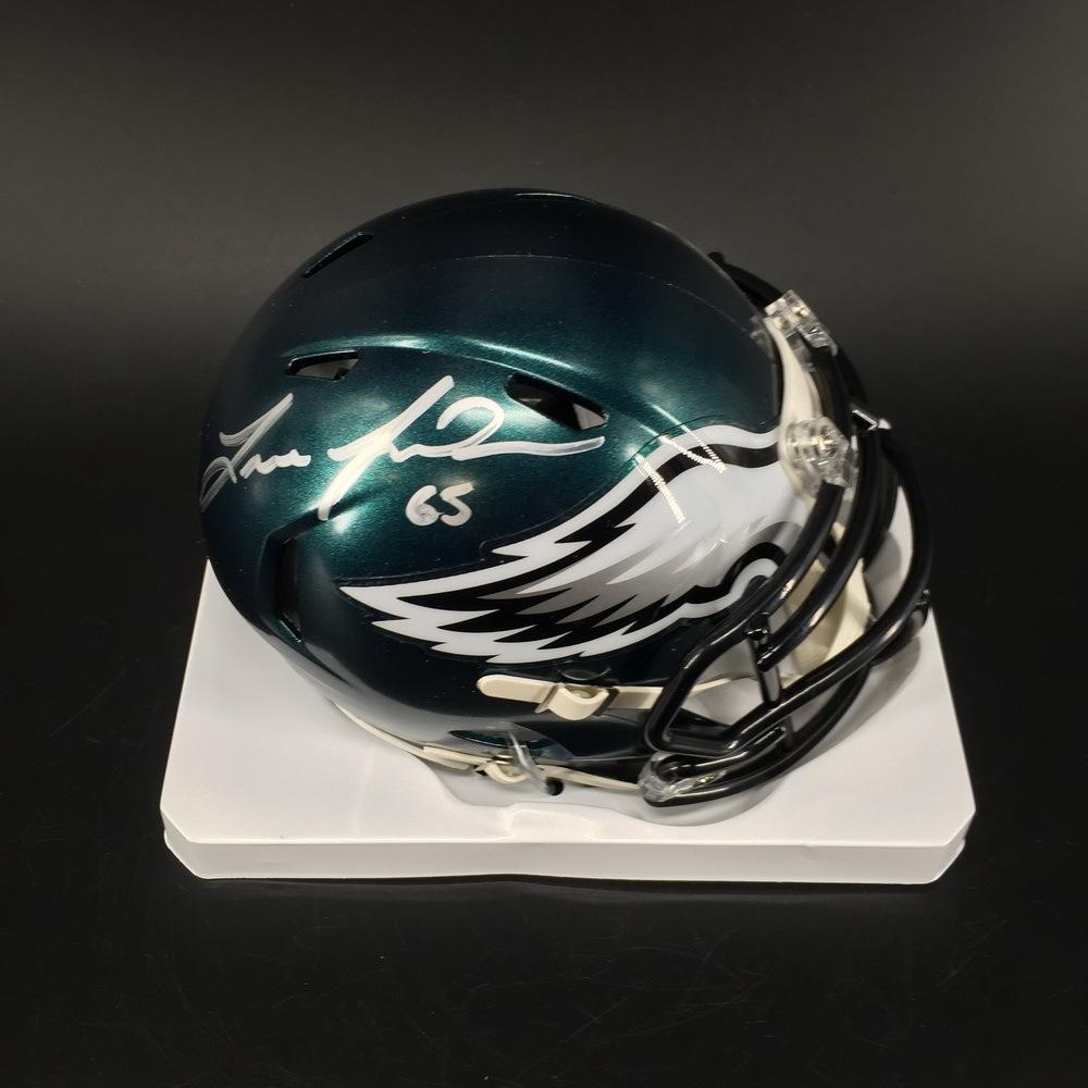 NFL - Eagles Lane Johnson Signed Mini Helmet