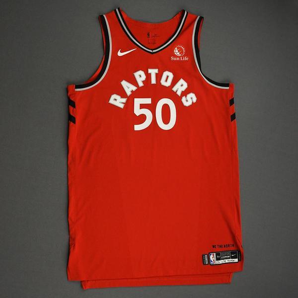 Image of Sagaba Konate - Toronto Raptors - Game-Worn Icon Edition Jersey - NBA Japan Games - Dressed, Did Not Play - 2019-20 NBA Season
