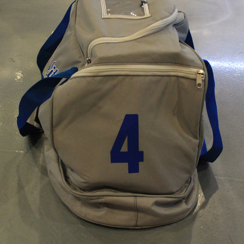 Photo of Game-Used Spring Training 2020 Bag: Alex Gordon #4
