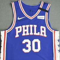 Furkan Korkmaz - Philadelphia 76ers - Game-Worn Icon Edition Jersey - 2019-20 NBA Season Restart with Social Justice Message