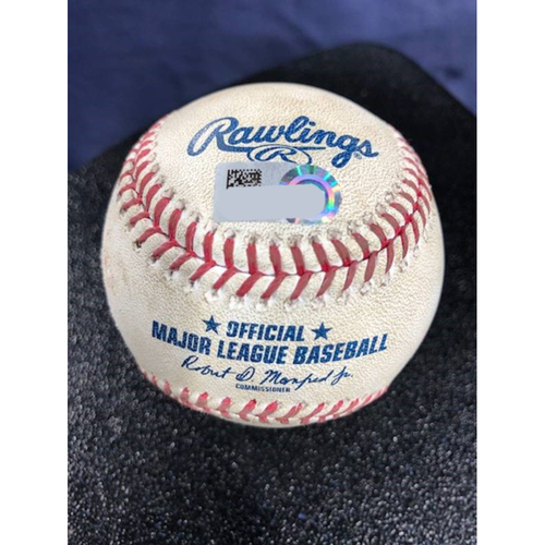 Photo of Game-Used Baseball - 2020 ALCS - Tampa Bay Rays vs. Houston Astros - Game 4 - Pitcher: Tyler Glasnow, Batter: Jose Altuve (RBI Double) - Bot 3
