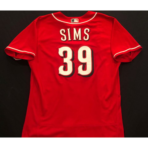 Photo of Lucas Sims -- 2020 Spring Training Jersey -- Team-Issued -- Size 46