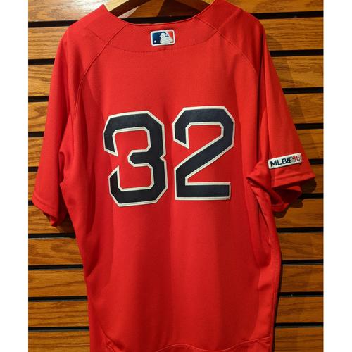 Photo of Matt Barnes #32 Game Used Red Home Alternate Jersey