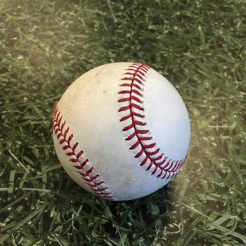 Photo of Game-Used Baseball PIT@MIL 08/30/20 - Geoff Hartlieb - Keston Hiura: Hit By Pitch