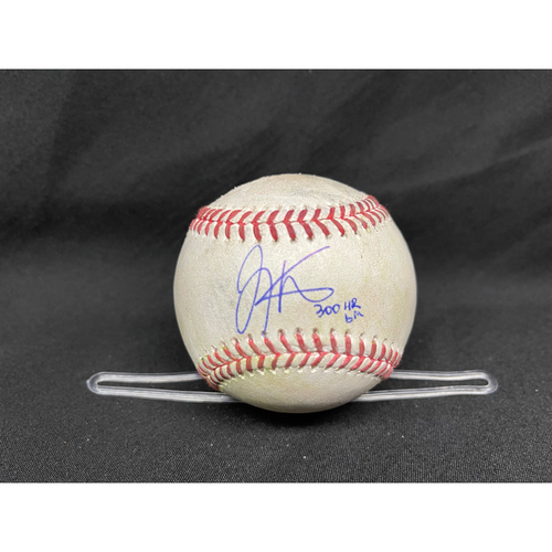 Photo of Joey Votto *Game-Used, Autographed & Inscribed* Baseball from 300th Career HR Game - Jose De Leon to Tony Wolters (Strikeout); to Kris Bryant (Double) -- 04/30/2021 - CHC vs. CIN - Top 7
