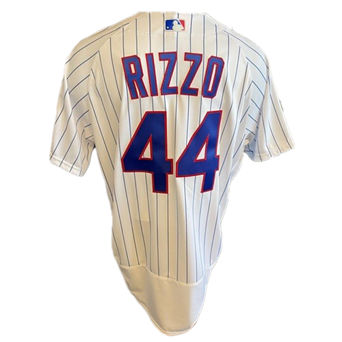 Photo of Anthony Rizzo Game-Used Jersey -- Padres vs. Cubs -- 6/2/21 -- Features ALS Patch -- Size 48